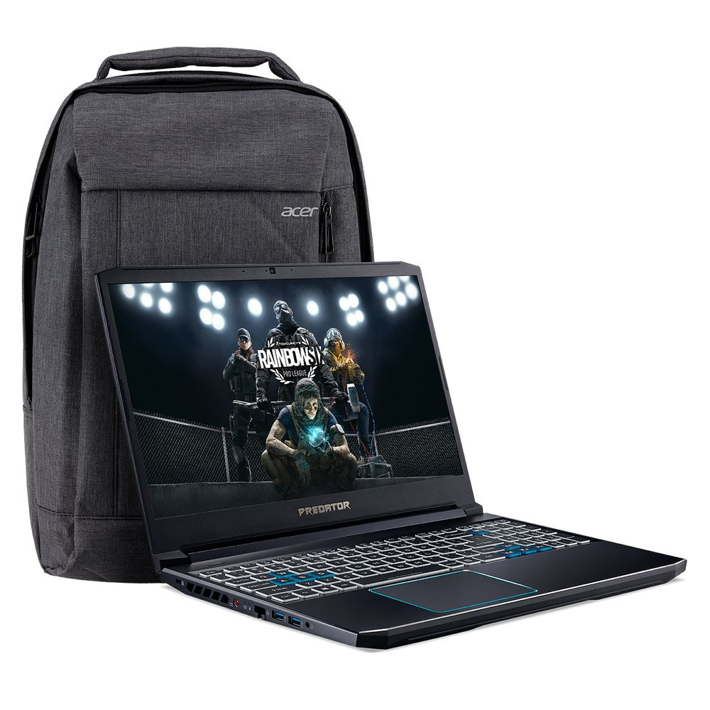 Kit Notebook Acer Predator Helios 300 – PH315-52-748U + Mochila Gray dual Tone